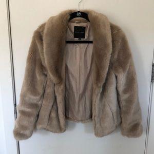 Light brown faux fur jacket